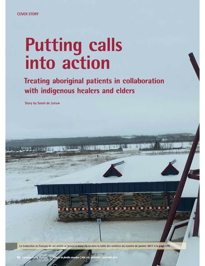 Putting calls into action: Treating aboriginal patients in collaboration with indigenous healers and elders