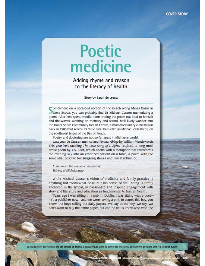 Poetic medicine: Adding rhyme and reason to the literacy of health