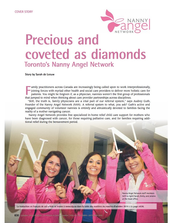 Precious and coveted as diamonds: Toronto's Nanny Angel Network