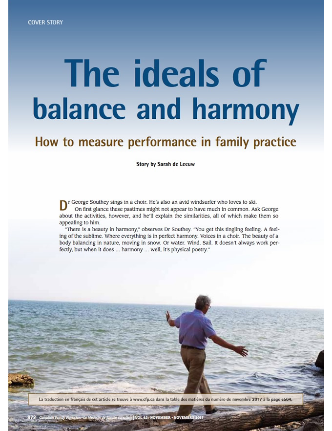 The ideals of balance and harmony: How to measure performance in family practice
